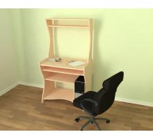 Вместительный компьютерный стол с множеством открытых ниш Aron3H