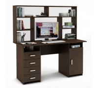 Письменный стол Лайт-8 с надстройкой
