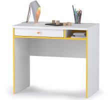 Альфа 12.41 Письменный стол, цвет солнечный свет/белый премиум, ШхГхВ 85,2х54,5х76,3 см., универсальная сборка