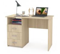 Стол компьютерный Комфорт 10 СК, цвет дуб сонома, ШхГхВ 110х57х76 см., универсальная сборка