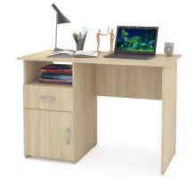 Стол компьютерный Комфорт 11 СК, цвет дуб сонома, ШхГхВ 110х57х76 см., универсальная сборка