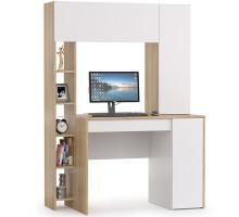 Стол компьютерный Комфорт 12.71, цвет дуб сонома/белый, ШхГхВ 116,7х60,2х165,4 см., НЕ универсальная сборка