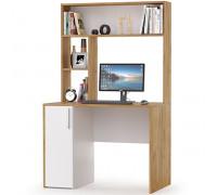 Стол компьютерный Комфорт 12.72, цвет дуб золотой/белый, ШхГхВ 100х60х165,4 см., НЕ универсальная сборка