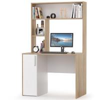 Стол компьютерный Комфорт 12.72, цвет дуб сонома/белый, ШхГхВ 100х60х165,4 см., НЕ универсальная сборка
