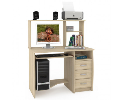 Стол компьютерный Комфорт 4 СК, цвет дуб сонома, ШхГхВ 105х65х125 см., НЕ универсальная сборка