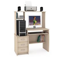 Стол компьютерный Комфорт 5 СК, цвет дуб паллада, ШхГхВ 105х57х132 см., НЕ универсальная сборка