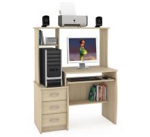 Стол компьютерный Комфорт 5 СК, цвет дуб сонома, ШхГхВ 105х57х132 см., НЕ универсальная сборка