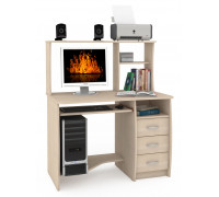 Стол компьютерный Комфорт 4 СК, цвет дуб паллада, ШхГхВ 105х65х125 см., НЕ универсальная сборка