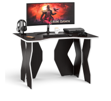 Стол компьютерный С-МД-СК6-1200, цвет венге/кромка белая, ШхГхВ 120х90х75 см. (Стол для геймера Краб-6)