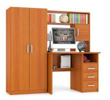 Стол компьютерный С-МД-СК9+Шкаф С-МД-СК9Ш, цвет вишня, ШхГхВ 172х70х160 см., ниша под монитор 65х70х57 см.