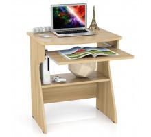 Стол компьютерный С-МД-СК1, цвет лён, ШхГхВ 67х55х75 см., столешница из МДФ