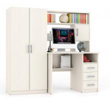 Стол компьютерный С-МД-СК9+Шкаф С-МД-СК9Ш, цвет дуб, ШхГхВ 172х70х160 см., ниша под монитор 65х70х57 см.