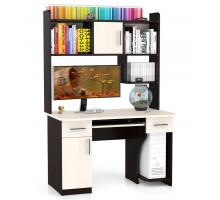 Стол компьютерный С-МД-СК7, цвет дуб/венге, ШхГхВ 120х70х180 см., под сист. 35х50х49 см., под монит. 86х70х60 см., НЕ универсальная сборка