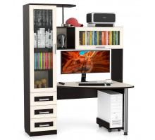 Стол компьютерный С-Бонус-2, цвет венге/дуб, ШхГхВ 150х90х195 см., универсальная сборка