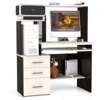 Стол компьютерный С-МД-СК3-NEW, цвет венге/дуб, ШхГхВ 105х65х135 см., универсальная сборка, ниша для монитора 60х65х53 см.
