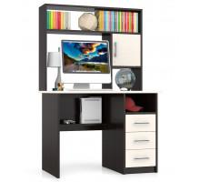 Стол компьютерный С-МД-СК9, цвет дуб/венге, ШхГхВ 102х70х160 см., ниша под монитор 65х70х57 см., НЕ универсальная сборка