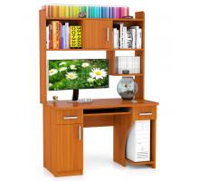Стол компьютерный С-МД-СК7, цвет вишня, ШхГхВ 120х70х180 см., под сист. 35х50х49 см., под монит. 86х70х60 см., НЕ универсальная сборка