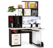 Стол компьютерный С-Варяг-3, цвет венге/дуб, ШхГхВ 130х110х188 см., универсальная сборка