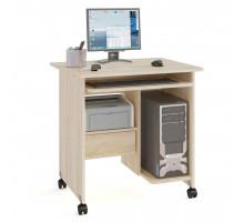 Стол компьютерный Сокол КСТ-10-1, цвет дуб сонома, ШхГхВ 80х60х80 см., стол компьютерный на поворотных колёсах