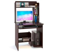 Стол компьютерный Сокол КСТ-01.1+КН-01, цвет венге, ШхГхВ 80х60х142 см., НЕ универсальная сборка