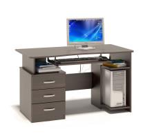 Стол компьютерный Сокол КСТ-08(КСТ-08.1), цвет дуб венге, ШхГхВ 130х60х74 см., универсальная сборка
