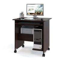 Стол компьютерный Сокол КСТ-10-1, цвет венге, ШхГхВ 80х60х80 см., стол компьютерный на поворотных колёсах
